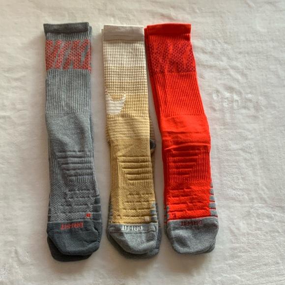 (3) Nike Dri-FIT Above All Training Crew socks